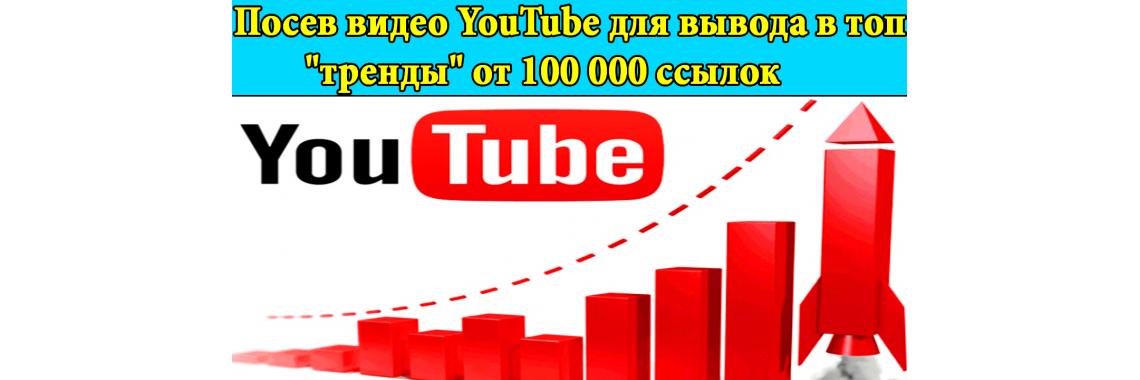 """Посев видео YouTube для вывода в топ """"тренды"""""""