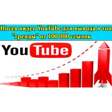 """Посев видео YouTube для вывода в топ """"тренды"""" от 100 000 ссылок"""